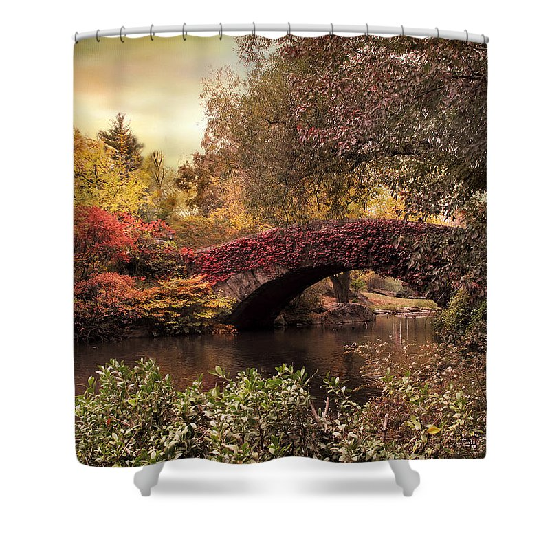 Bridge Shower Curtain featuring the photograph Dusk At Gapstow by Jessica Jenney