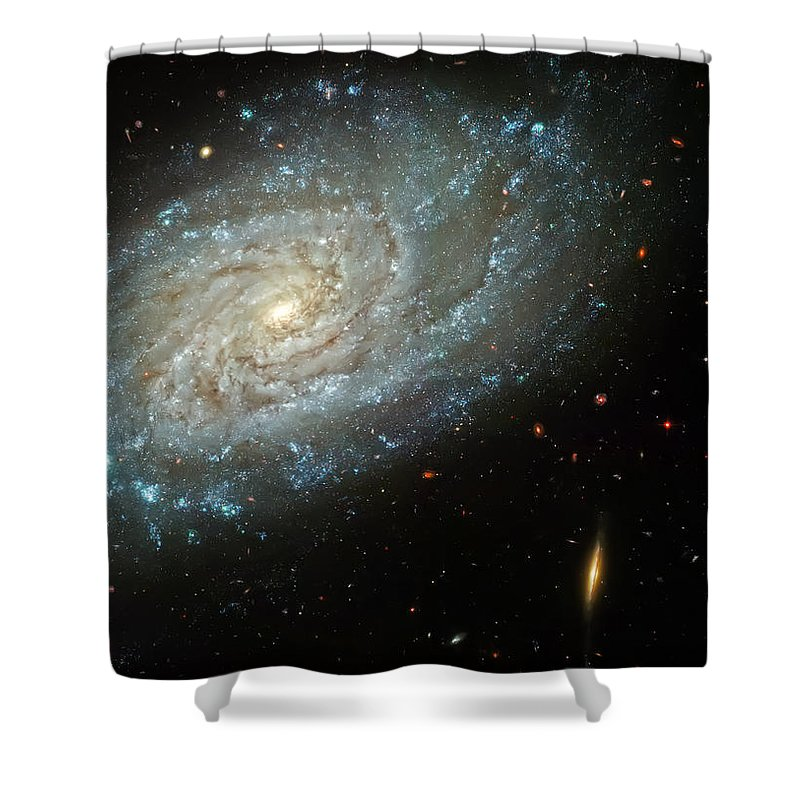 Universe Shower Curtain featuring the photograph Dusty Galaxy by Jennifer Rondinelli Reilly - Fine Art Photography
