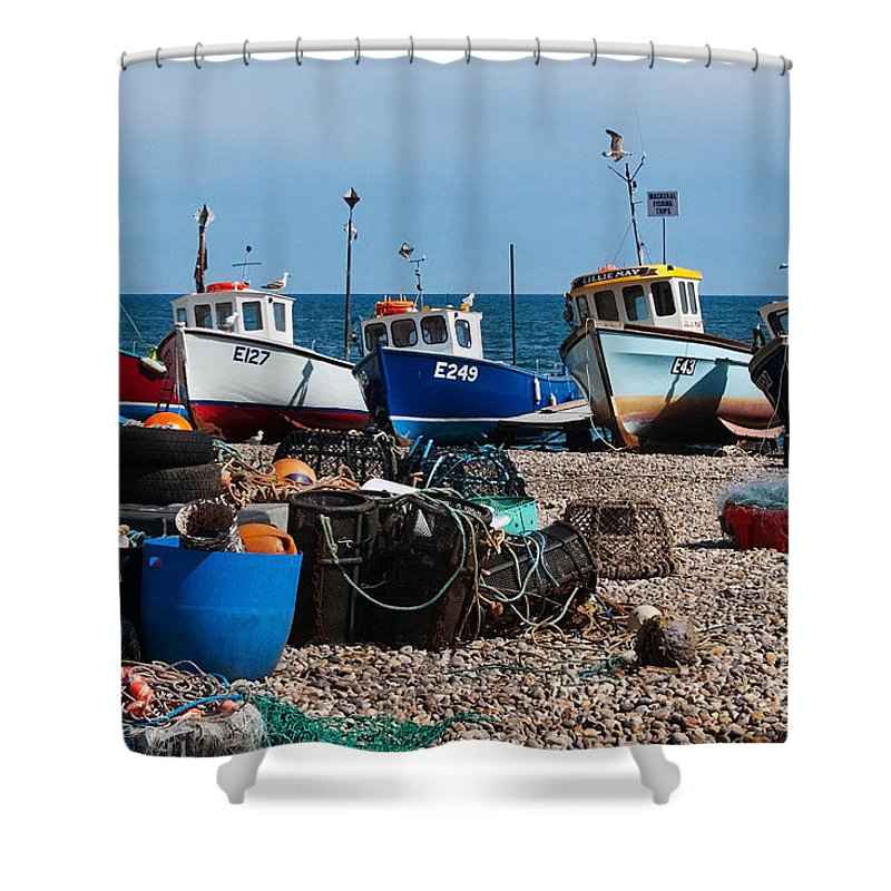Boats Shower Curtain featuring the photograph E Numbers by Susie Peek