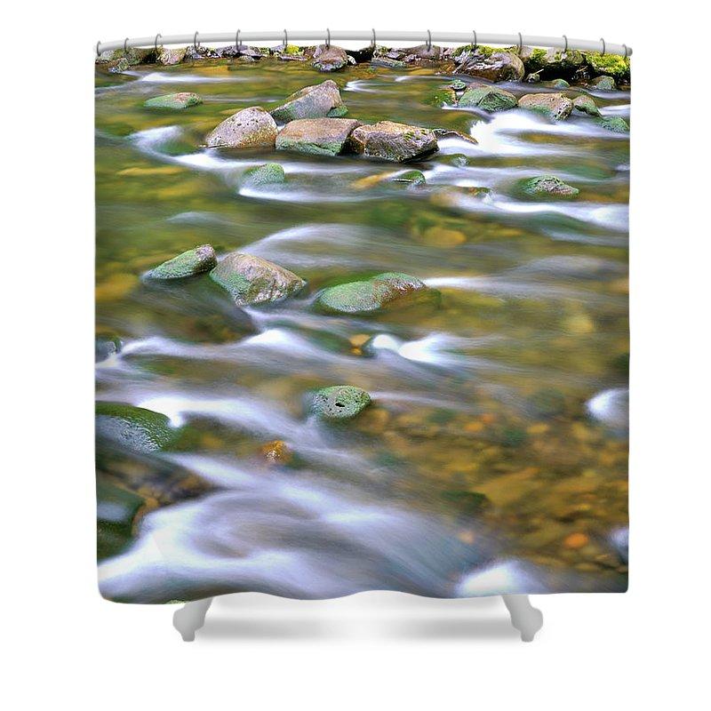 Eagle Creek Shower Curtain featuring the photograph Eagle Creek Oregon by Ed Riche