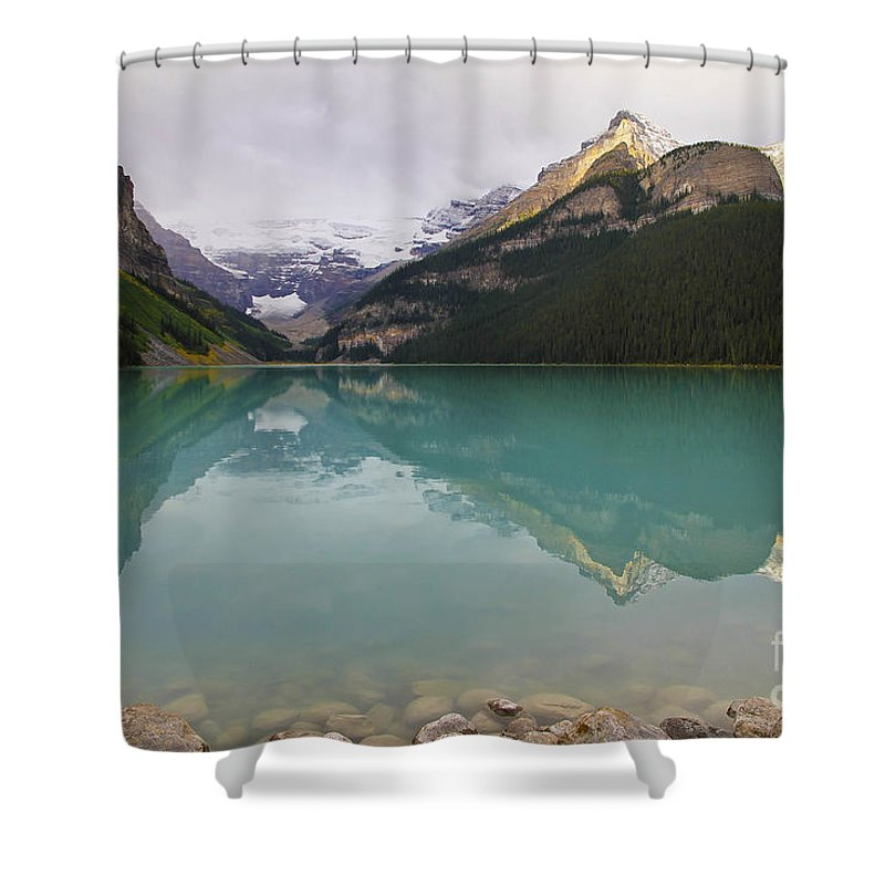 Lake Louise Shower Curtain featuring the photograph Early Morning At Lake Louise by Teresa Zieba