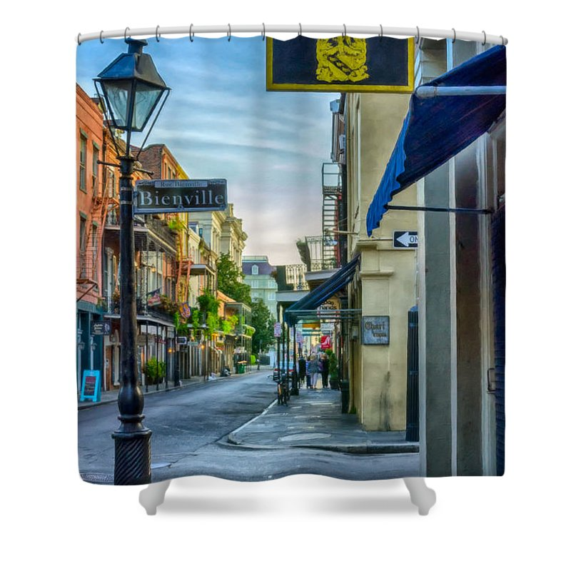 2014 Shower Curtain featuring the photograph Early Morning In French Quarter Nola by Kathleen K Parker