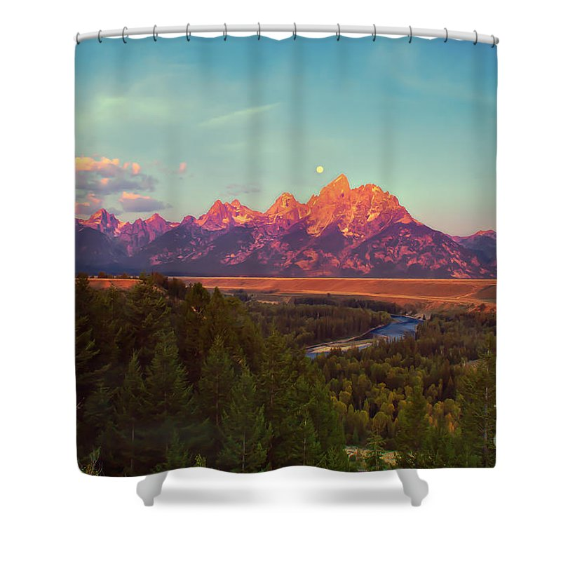 Moon Shower Curtain featuring the photograph Early Morning Light by Robert Bales