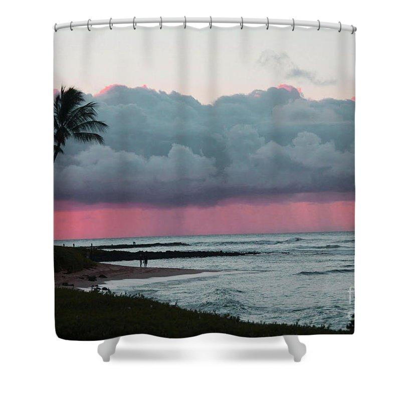 Ocean Shower Curtain featuring the photograph Early Morning Rain by Dana Kern
