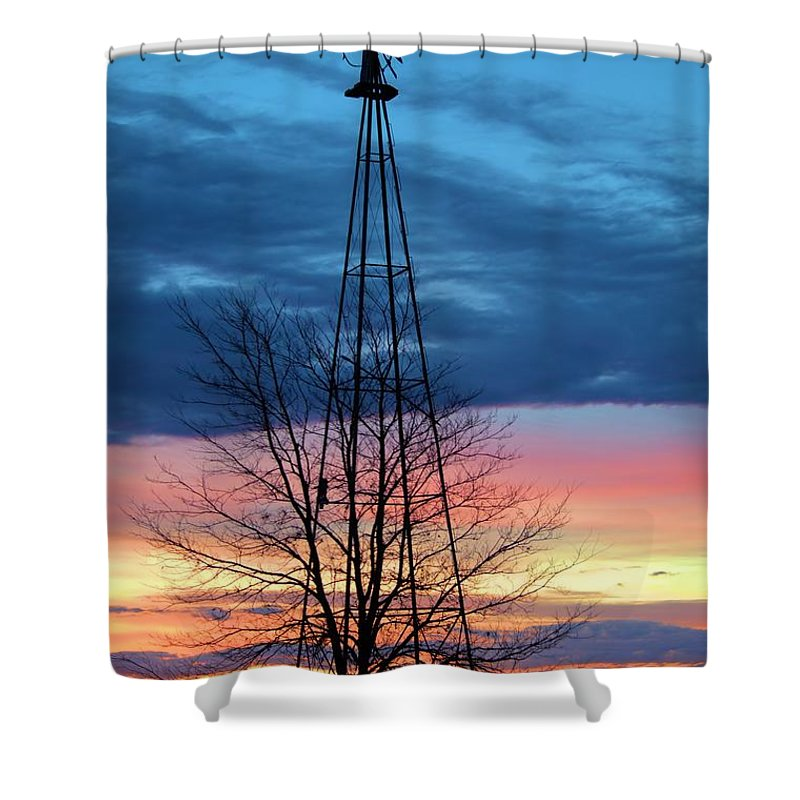 Agriculture Shower Curtain featuring the photograph Early Prairie Light by Bonfire Photography