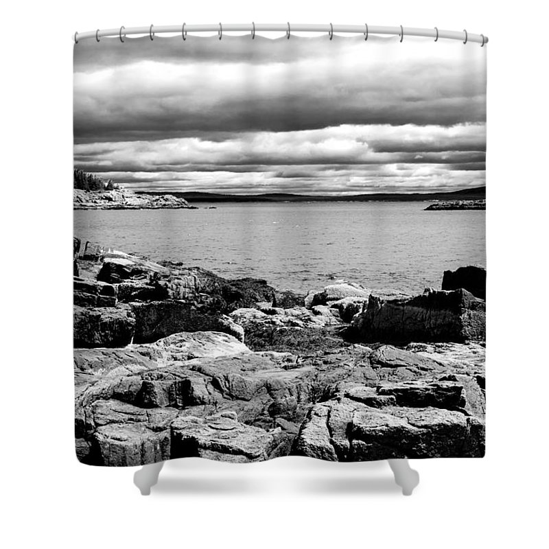 Mountains Shower Curtain featuring the photograph Earth Sea And Sky by Greg Fortier