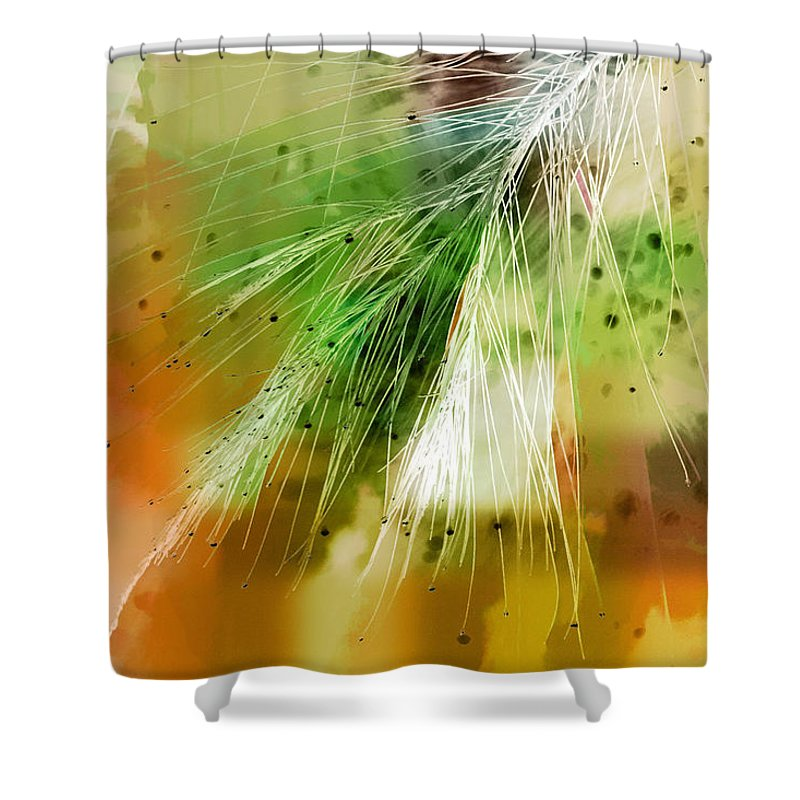 Abstract Shower Curtain featuring the photograph Earth Silk by Holly Kempe