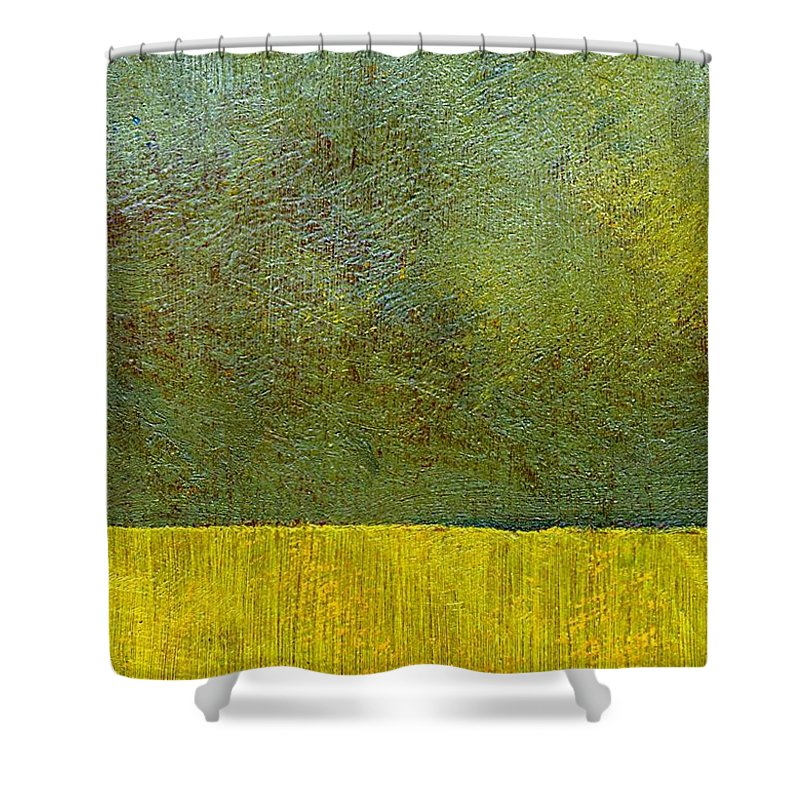 Abstract Landscape Shower Curtain featuring the painting Earth Study Two by Michelle Calkins