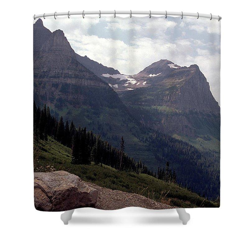 Glacier Shower Curtain featuring the photograph East Glacier National Park by Sharon Elliott