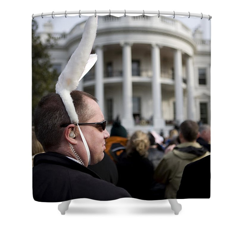 Washington Shower Curtain featuring the photograph Easter Bunny by JP Tripp