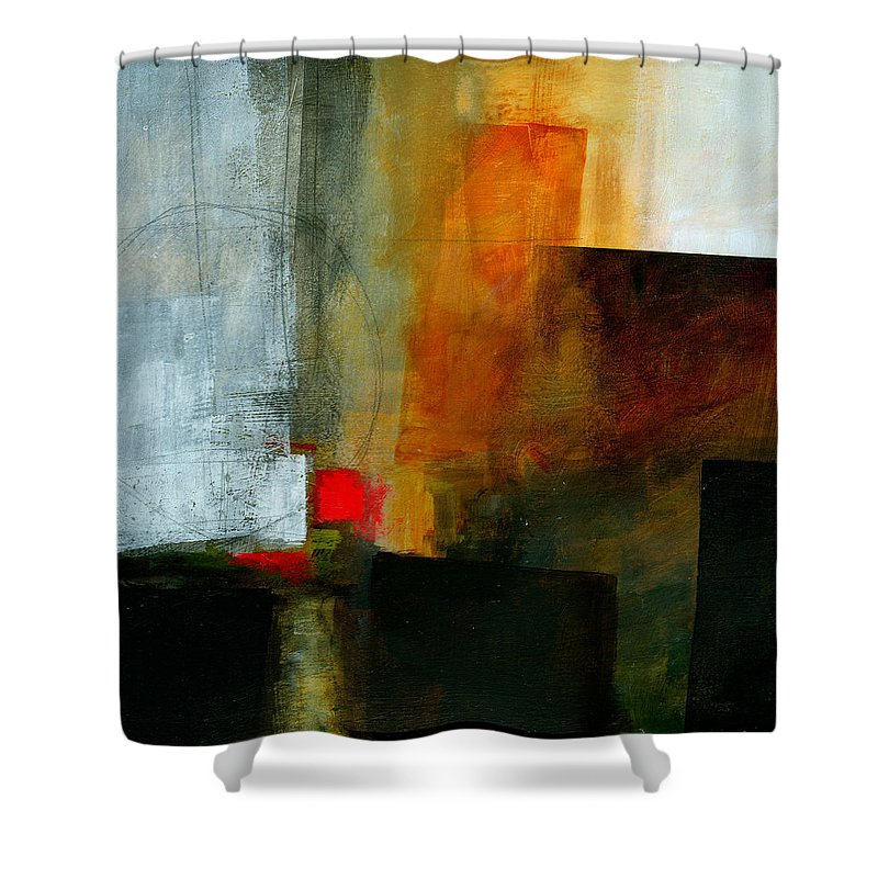 Acrylic Shower Curtain featuring the painting Edge Location 3 by Jane Davies