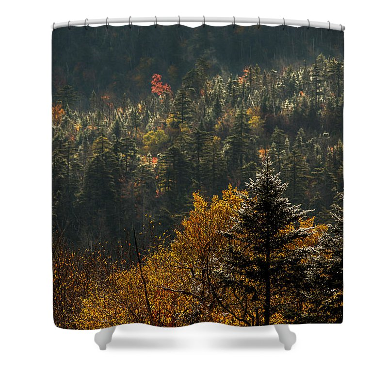 Autumn Shower Curtain featuring the photograph Edge Of Light by Jonathan Steele
