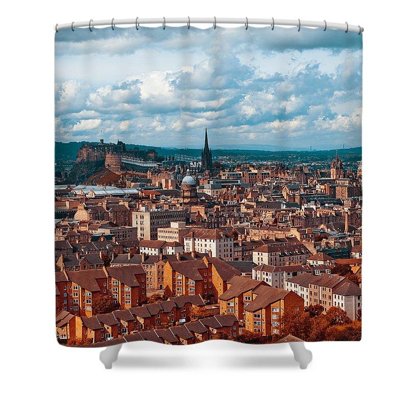 Scotland Shower Curtain featuring the photograph Edinburgh. Scotland by Jenny Rainbow
