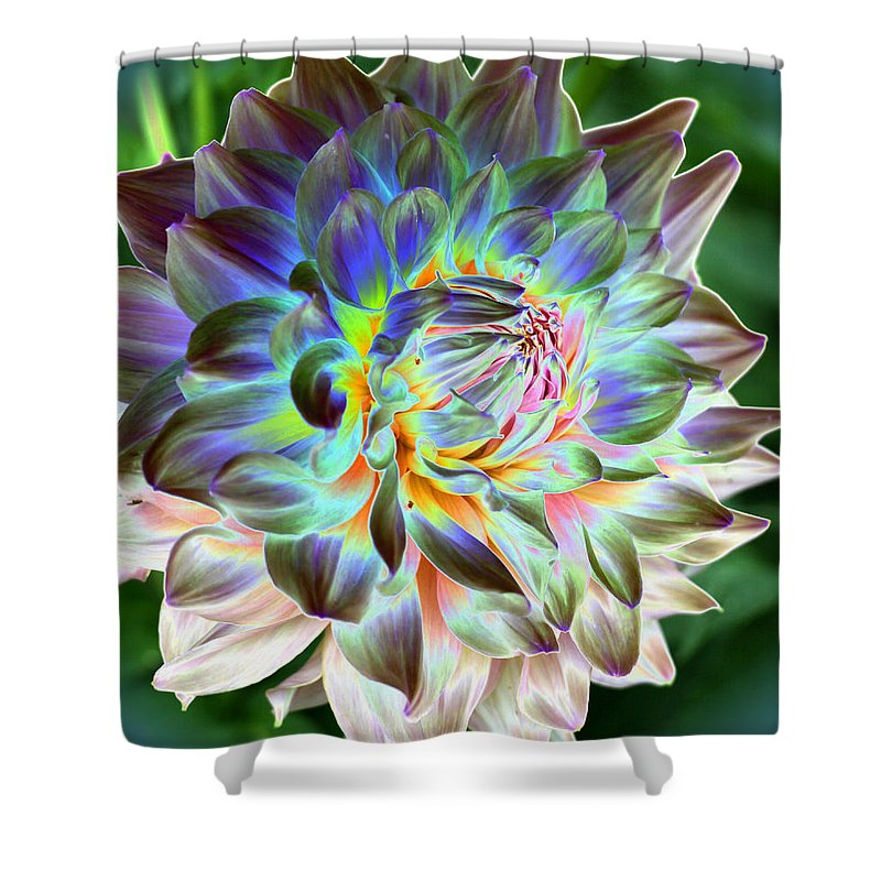Dahlia Shower Curtain featuring the photograph Eerily Beauty by Christiane Schulze Art And Photography