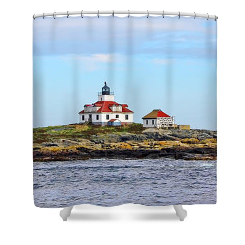 Egg Rock Lighthouse Shower Curtain featuring the photograph Egg Rock Lighthouse by Jack Schultz