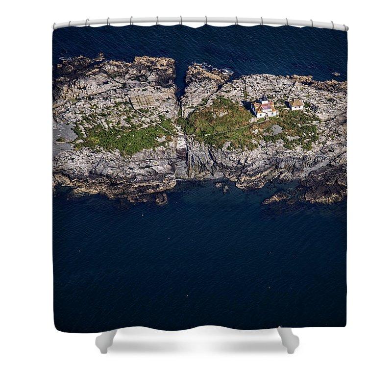 Maine Shower Curtain featuring the photograph Egg Rock Lighthouse by Rick Berk