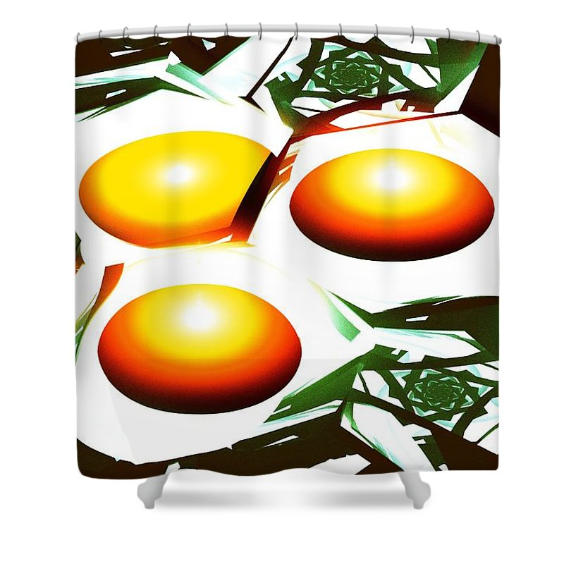 Computer Shower Curtain featuring the digital art Eggs For Breakfast by Anastasiya Malakhova