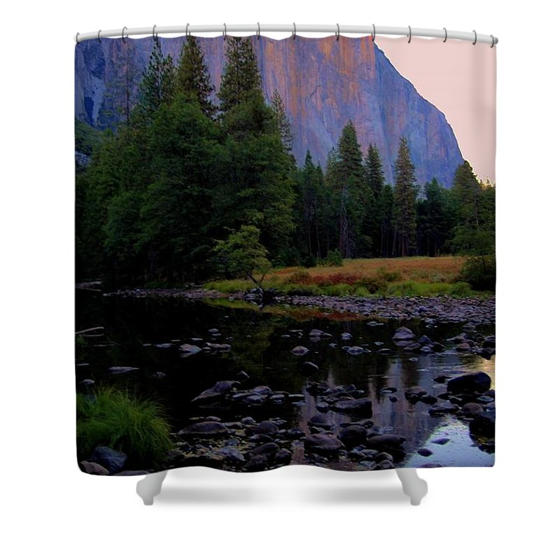 El Shower Curtain featuring the photograph El Capatain by Kathleen Struckle