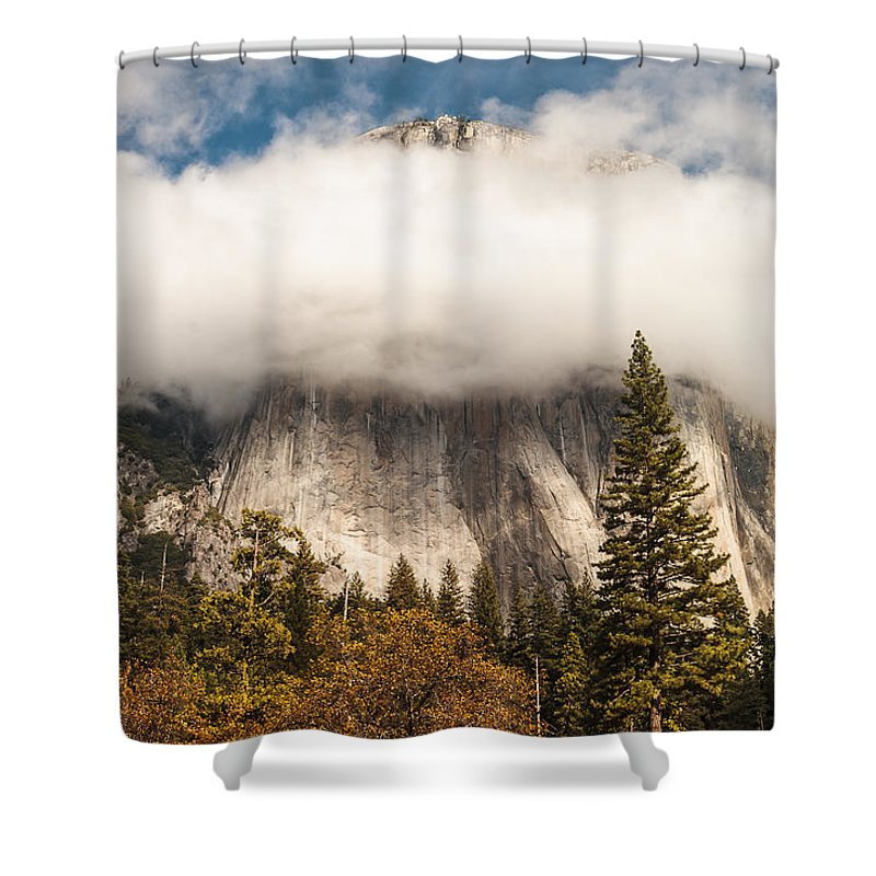 Yosemite National Park Shower Curtain featuring the photograph El Capitan by Muhie Kanawati
