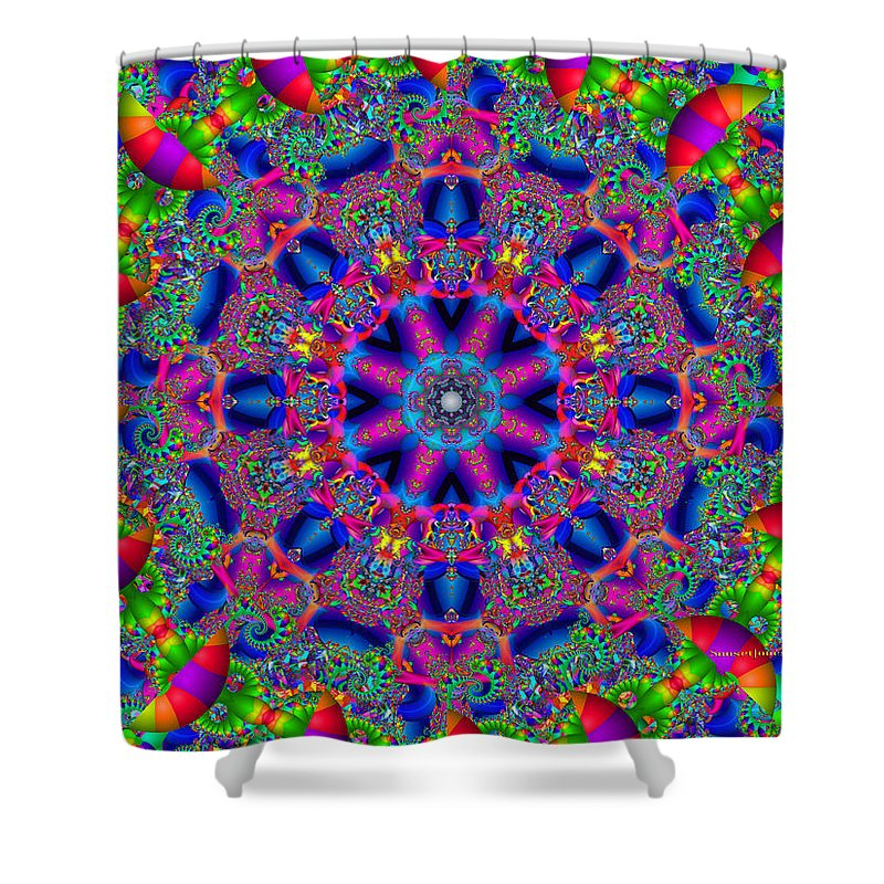 Office Shower Curtain featuring the digital art Elaborate Systems by Robert Orinski