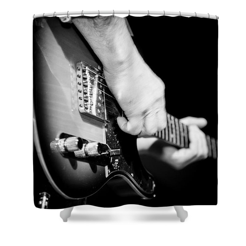 Las Vegas Shower Curtain featuring the photograph Electric Guitar by Alan Nix
