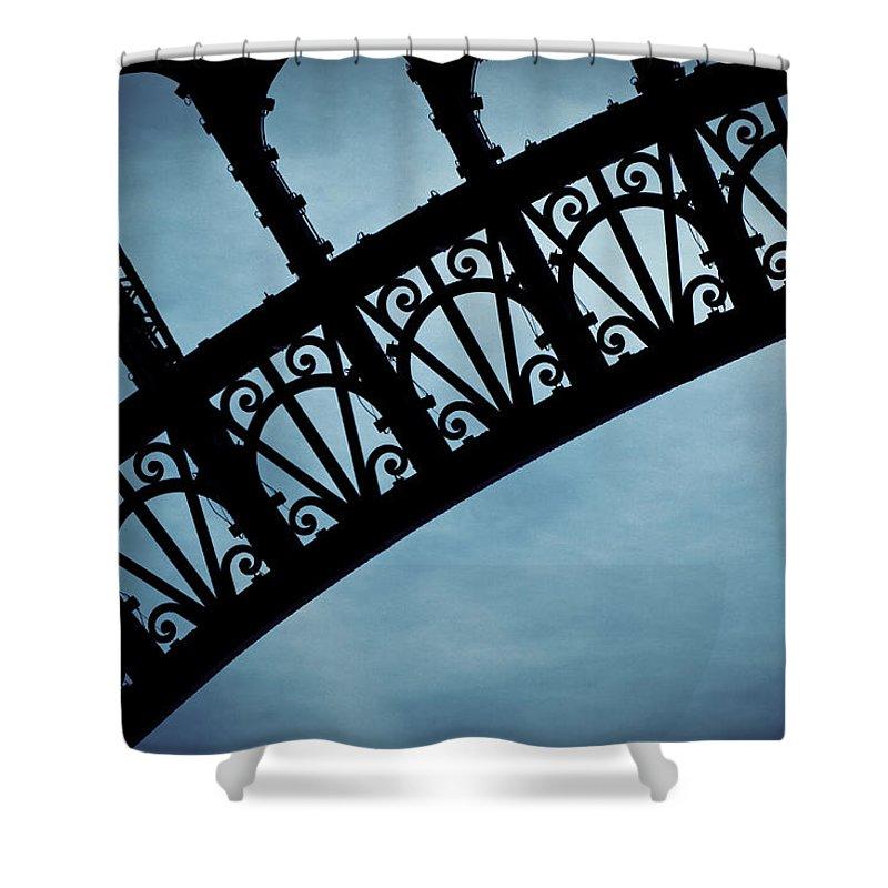 Eiffel Tower Shower Curtain featuring the photograph Electrify - Eiffel Tower by Melanie Alexandra Price