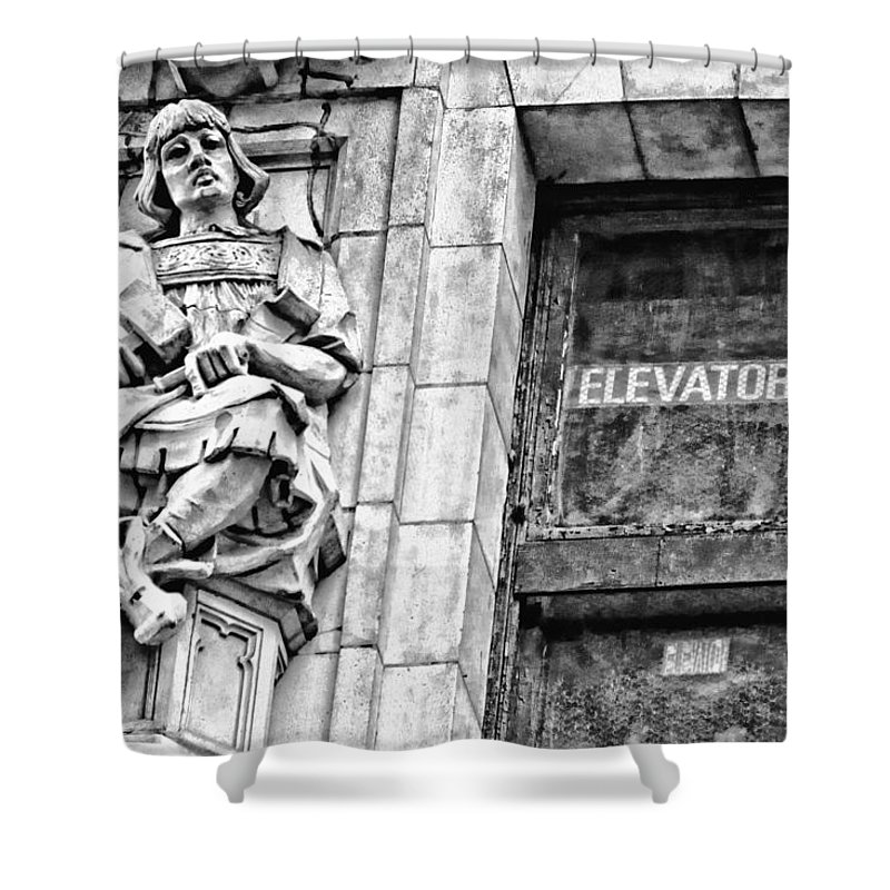 New York Shower Curtain featuring the photograph Elevator by Alice Gipson