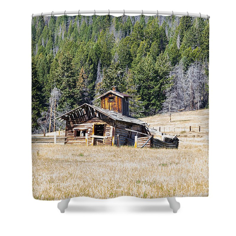 Elk Park Shower Curtain featuring the photograph Elk Park Homestead by Fran Riley