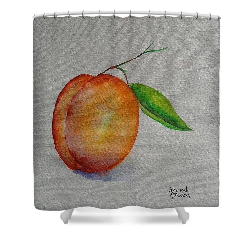 Apricot Shower Curtain featuring the painting Elsie by Shannon Grissom