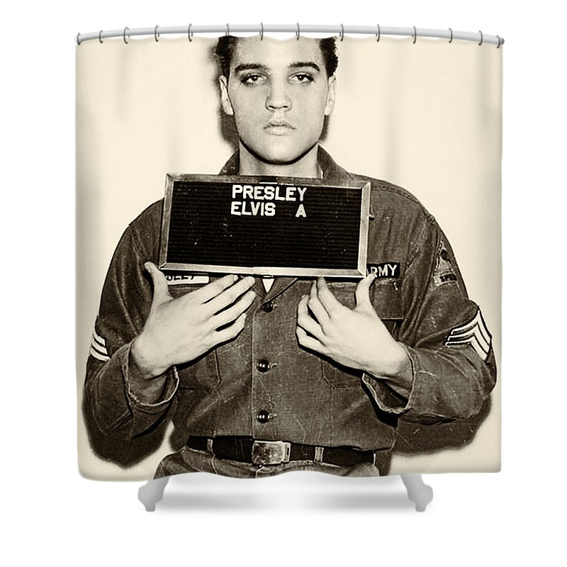 Elvis Shower Curtain Featuring The Photograph Presley
