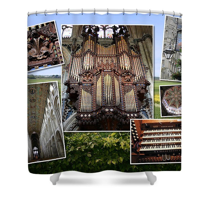 Ely Shower Curtain featuring the photograph Ely Montage by Jenny Setchell