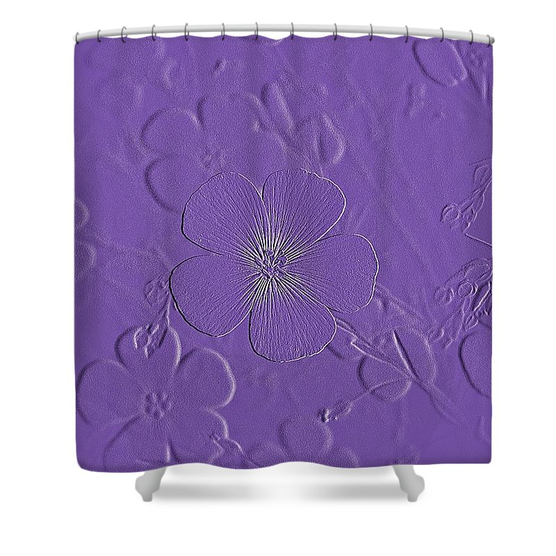 Nature Shower Curtain featuring the photograph Embossed Bouquet by Chris Berry