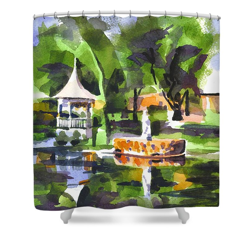 Emerald Isle Shower Curtain featuring the painting Emerald Isle by Kip DeVore