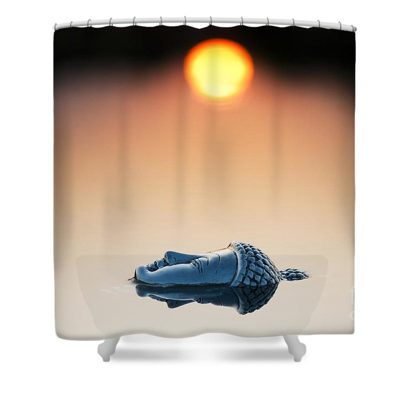 Buddha Shower Curtain featuring the photograph Emerging Buddha by Tim Gainey