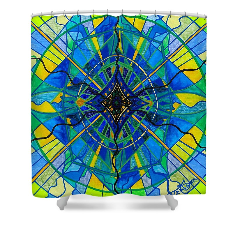 Shower Curtain featuring the painting Emotional Expression by Teal Eye Print Store
