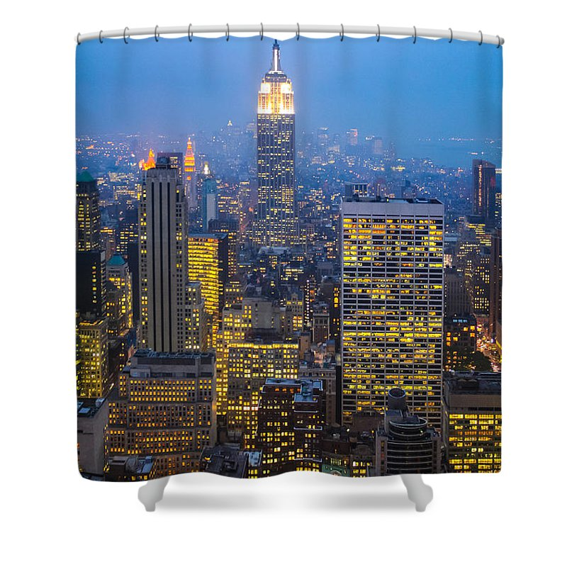 Midtown Manhattan Shower Curtain featuring the photograph Empire State Building And Midtown Manhattan by Liz Leyden
