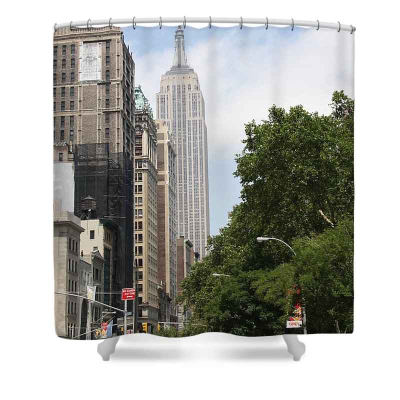 Empire State Building Shower Curtain featuring the photograph Empire State Building by Christiane Schulze Art And Photography