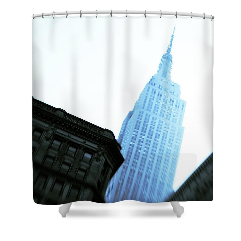 Empire State Building Shower Curtain featuring the photograph Empire State Building by Dave Bowman