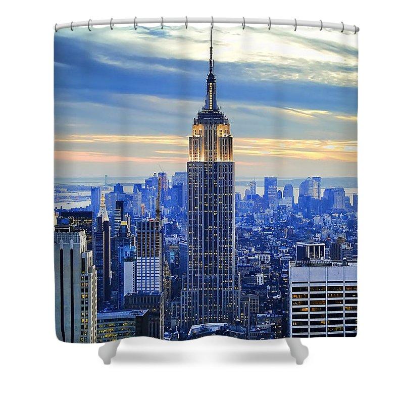 Skyscraper Photographs Shower Curtains