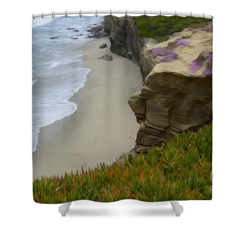 California Shower Curtain featuring the photograph Enchanted Spaces California La Jolla by Bob Christopher