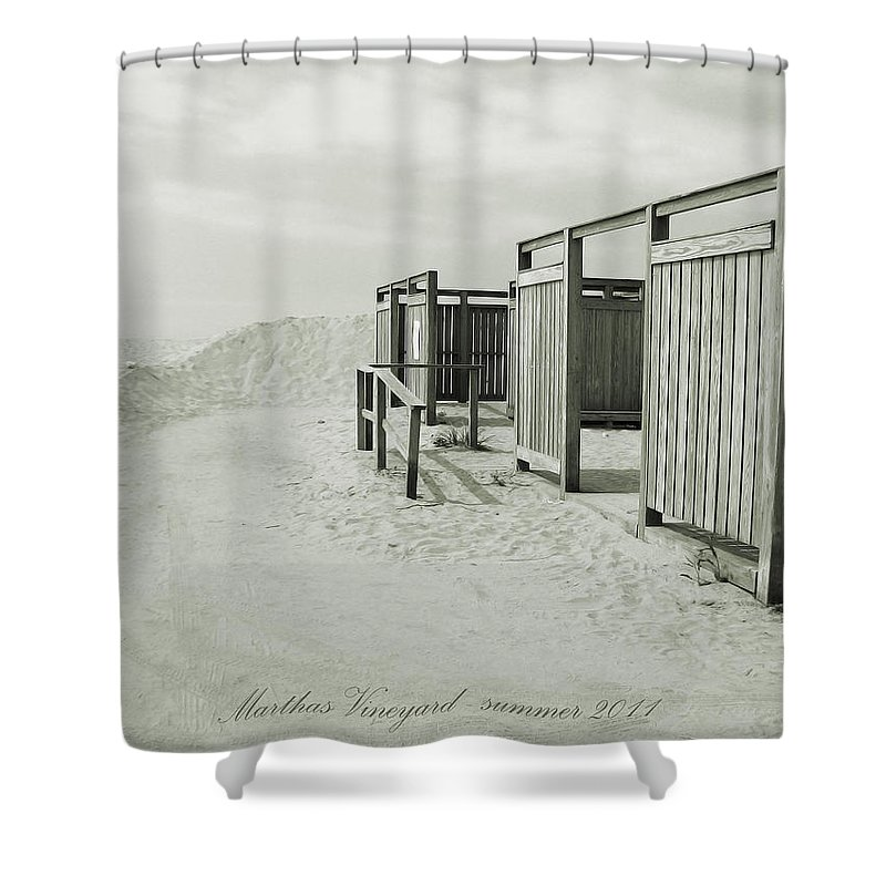 Beach Shower Curtain featuring the photograph End Of Summer by Christo Christov