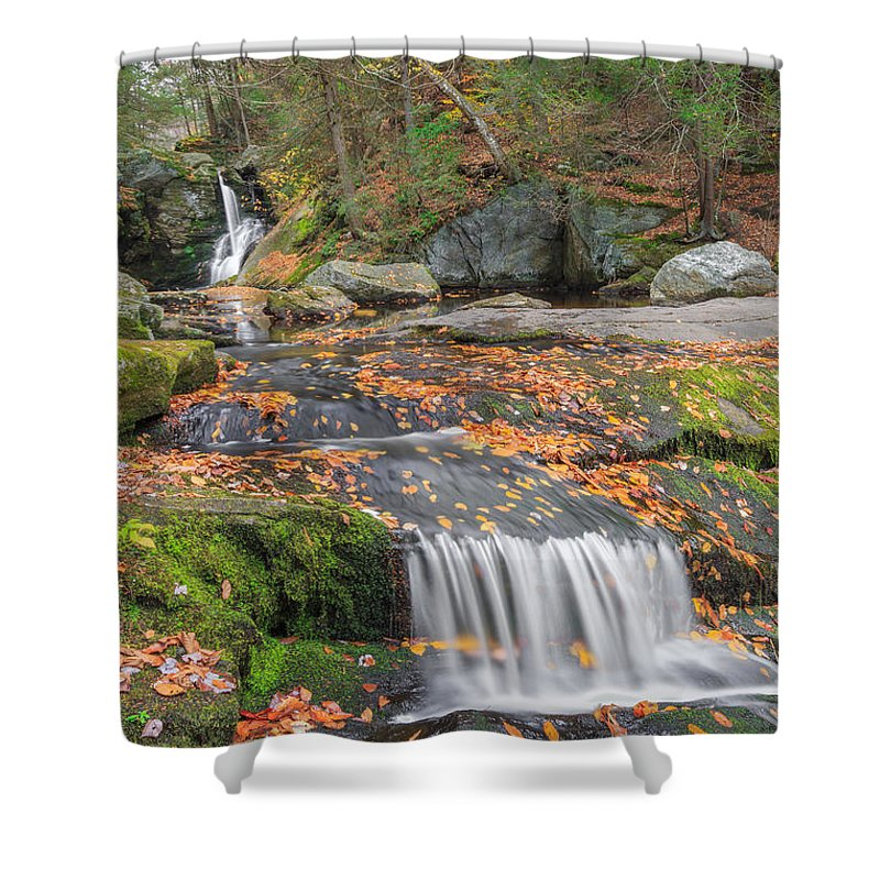 Enders Falls Shower Curtain featuring the photograph Enders Portrait by Bill Wakeley