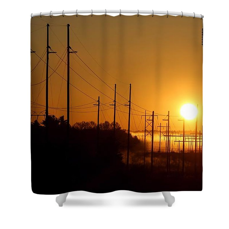 Sun Shower Curtain featuring the photograph Energy by Kenny Glotfelty