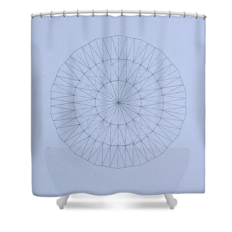 Jason Padgett Shower Curtain featuring the drawing Energy Wave 20 Degree Frequency by Jason Padgett
