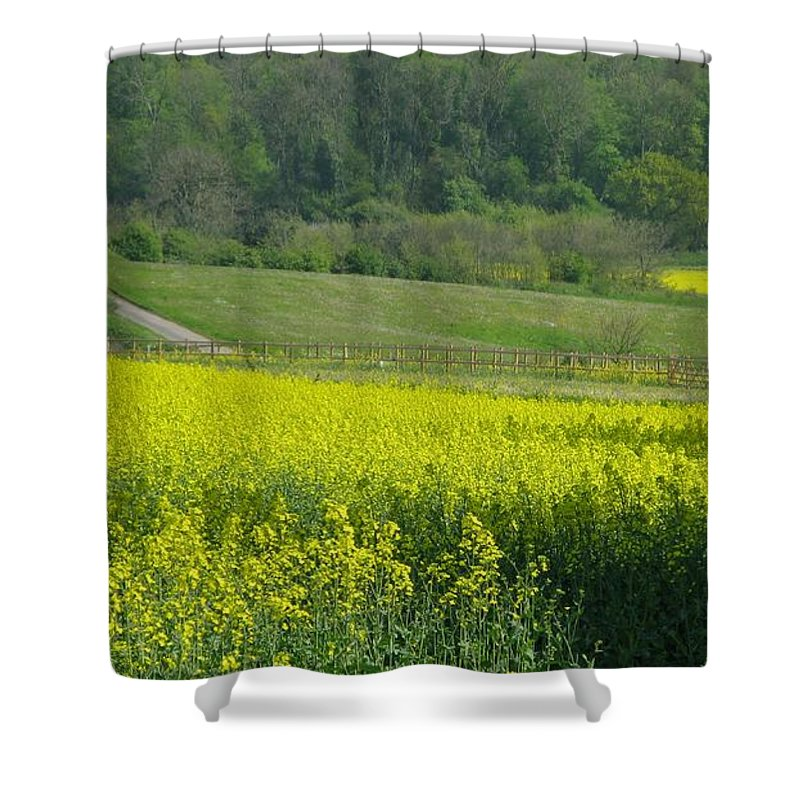 England Shower Curtain featuring the photograph English Countryside by Ann Horn