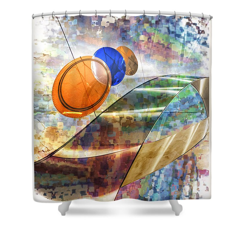 Taurus Shower Curtain featuring the digital art Enigma Of Lifes Journey by Georgianne Giese