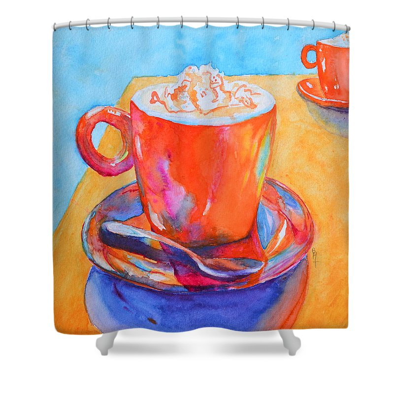 Enjoy Shower Curtain featuring the painting Enjoy by Beverley Harper Tinsley