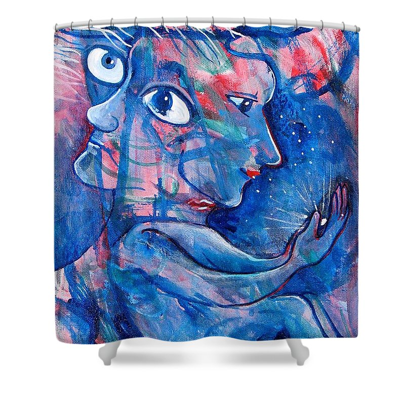 Magic Shower Curtain featuring the painting Enlightened by Rollin Kocsis