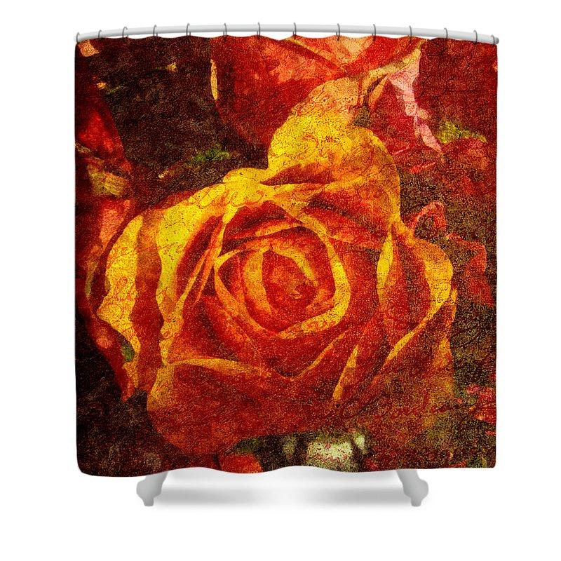 Flower Shower Curtain featuring the digital art Entrer Dans Mon Coeur by Lianne Schneider