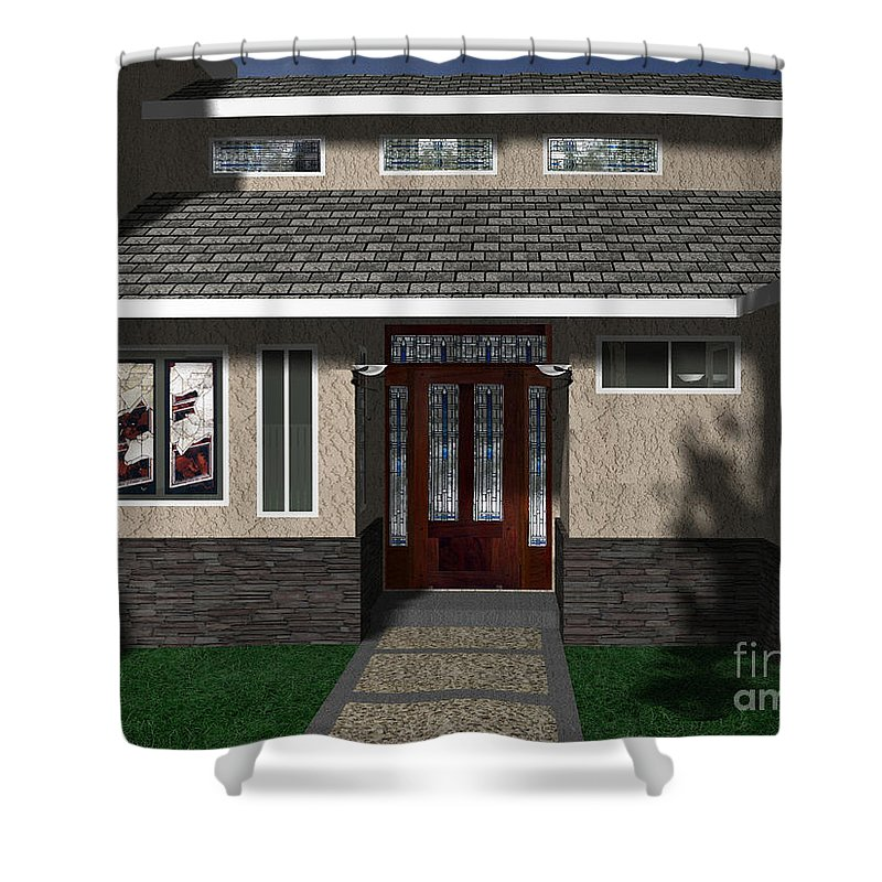 Shower Curtain featuring the digital art Entry Way by Peter Piatt